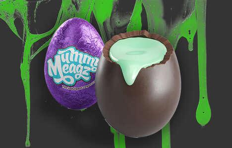 Spooky Vegan Chocolate Eggs