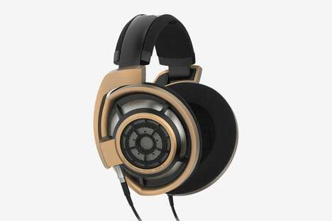 Celebratory Matte Gold Headphones