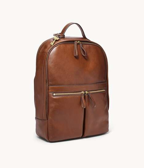 Multi-Pocketed Leather Laptop Bags