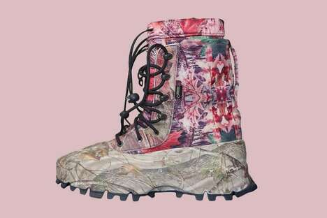 Sturdy Camo-Adorned Sample Boots