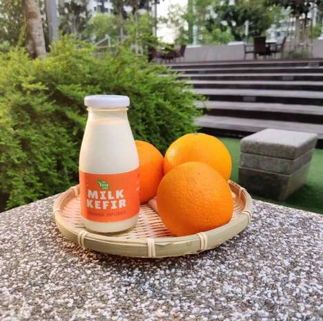 Orange-Flavored Kefir Beverages