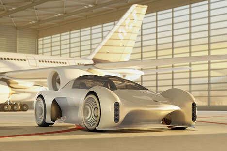 Futuristic Hypercar Racers