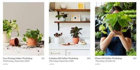 Plant-Themed Retailer Workshops