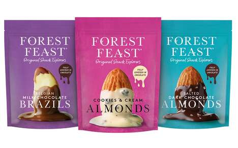 Chocolate-Covered Nut Snacks