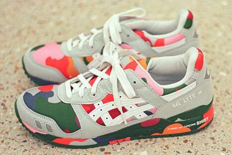Colorful Camo Printed Sneakers