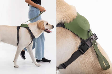 Leash-Equipped Dog Harnesses