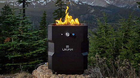 Speaker-Equipped Fire Pits