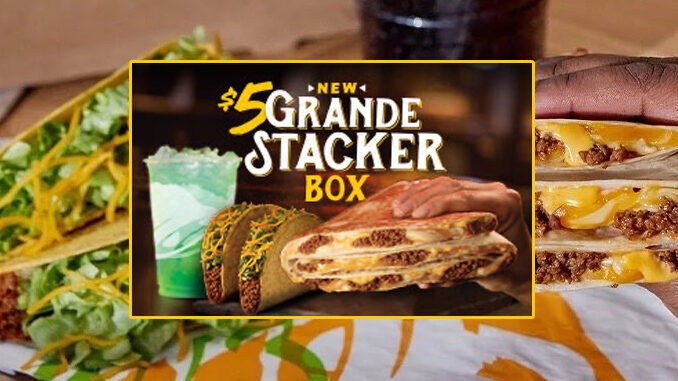 Stacked Taco Value Meals Taco Bell 5 Grande Stacker Box