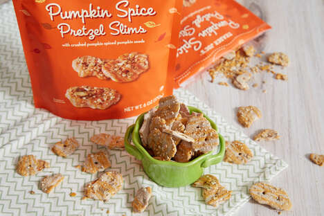 Pumpkin-Spiced Pretzel Chips