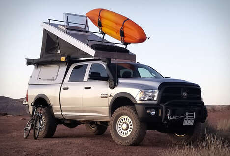 Pickup-Mounted Camper Cabins