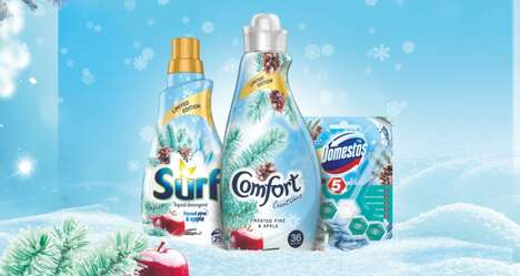 Winter-Themed Laundry Detergents