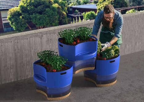 Recycled Urbanite Gardener Planters
