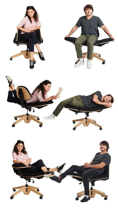 Transforming Multi-Position Office Chairs