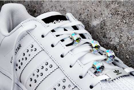Crystal-Studded Sneakers