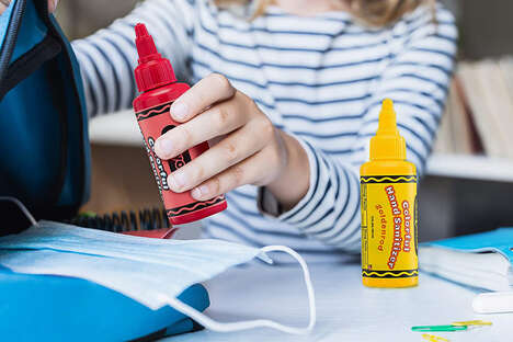 Crayon-Shaped Hand Sanitizers