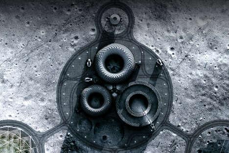 3D-Printed Lunar Colonies