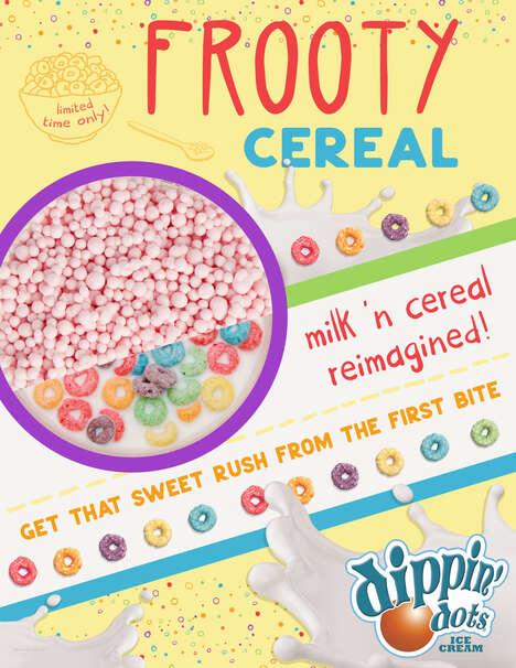 Flash Frozen Cereal-Flavored Desserts