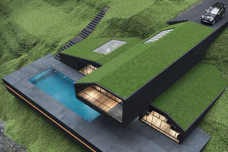 Contemporary Greenery-Covered Homes