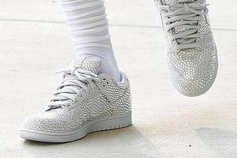 Bejeweled Low-Cut Sneakers