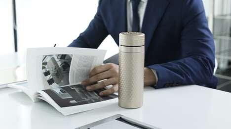 Stylish Dual-Material Mugs