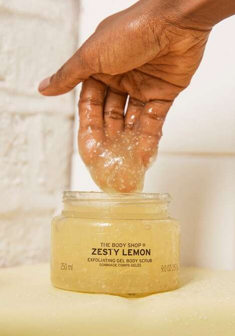 Upcycled Lemon Body Scrubs