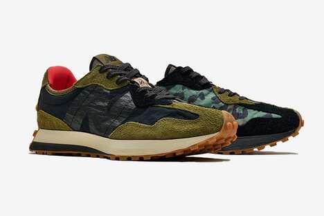 Textural Earthy Tonal Sneakers