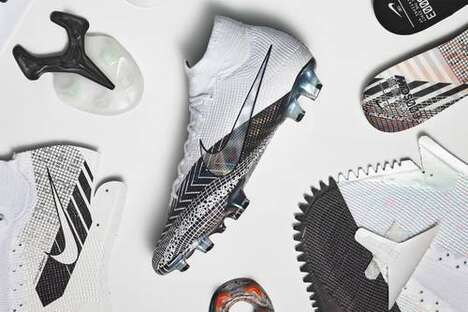Football-Inspired Graphic Footwear