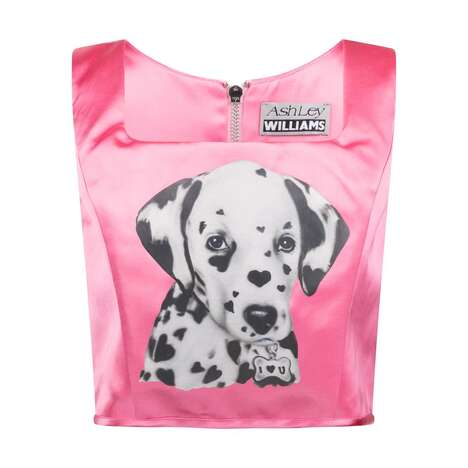 Puppy-Adorned Corset Apparel