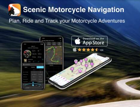 Scenic Motorcycle Navigation Apps
