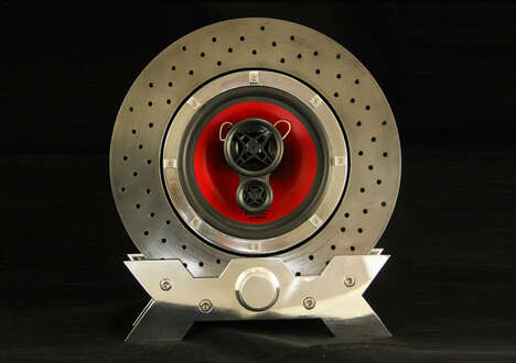 Upcycled Vehicle Component Decor
