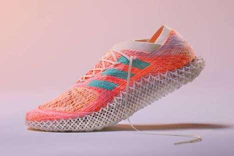 Futuristic Weaved Running Sneakers