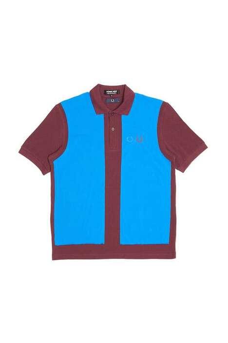 Color-Blocked Minimal Polo Shirts