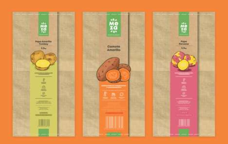 Playful Produce Packaging Designs