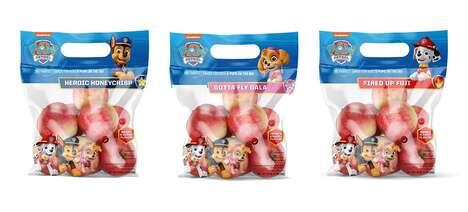 Cartoon-Branded Apples