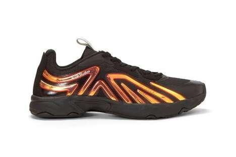 Iridescent Luxe Mesh Sneakers