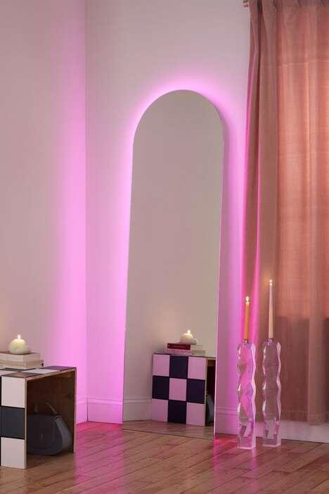 Moody LED-Lit Mirrors