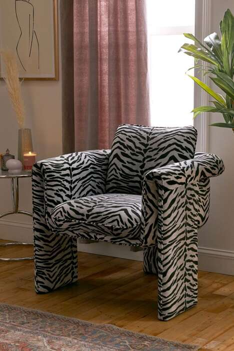 Sculptural Animal Print Seating