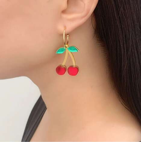 Charming Cherry-Shaped Jewelry