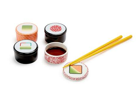 Maki-Shaped Soy Sauce Containers