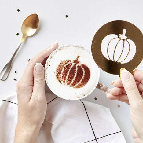 Festive Coffee Stencils