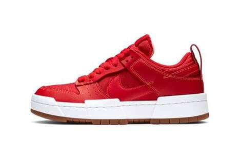 Bold Red Low-Cut Sneakers