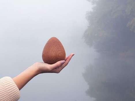 Meditative Wooden Egg Tools