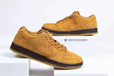 Puffy Brown Supple Sneakers