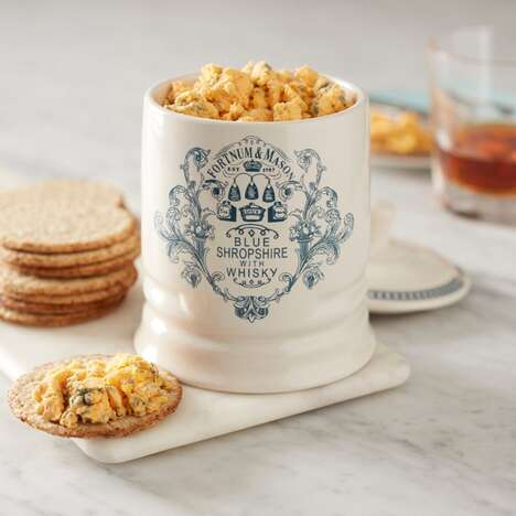 Whiskey-Infused Blue Cheese Jars