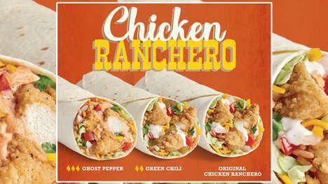 Ranch Dressing-Filled Burritos