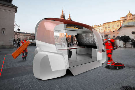 Crowded City Ambulance Pods