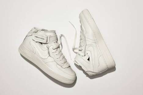 Deconstructed Mid-Cut Sneakers