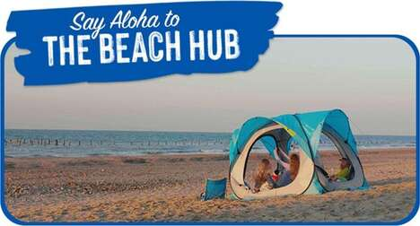 Solar-Powered Beach Shelters