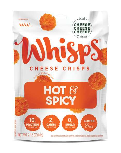Fiery Cheese Crisps