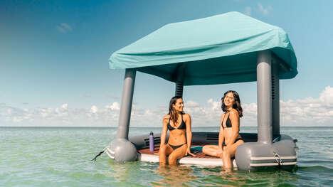 Expansive Floating Cabanas